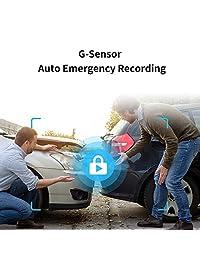 "70mai Dash Cam, Dashboard Camera Recorder, Pro 1944P, Parking Monitor, Car Camera,2"" LCD WDR Screen, Night Vision, 140°Wide Angle, G Sensor, Loop Recording, Motion Detection, APP WiFi, Car DVR"