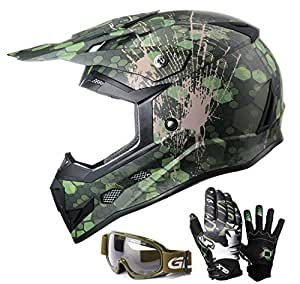 Amazon.com: GLX Youth & Kids Motocross/ATV/Dirt Bike 3-pc