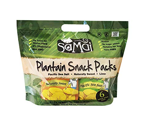 Samai Platain Chips Gluten - Paquete de 6 bolsas: Amazon.com ...