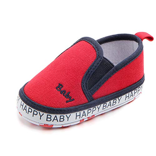Meckior Save Beautiful Toddler Baby Girls Boys Shoes Infant First Walkers Sneakers (0-6 Months, H-red)