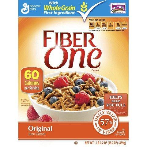 Fiber One Cereal, Bran, Original, 16.2 oz, (pack of 3)