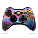 #7: MightySkins Skin For Microsoft Xbox 360 Controller - Rainbow Waves | Protective, Durable, and Unique Vinyl Decal wrap cover | Easy To Apply, Remove, and Change Styles | Made in the USA
