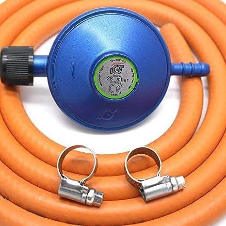 IGT Campingaz - Regulador de Gas (2 m, Compatible con 907,904,901 y 5 años)