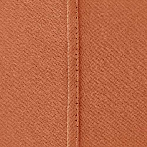 شراء Deconovo Grommet Plush Orange Thermal Insulated Blackout Curtain Panel 52x63 Inch
