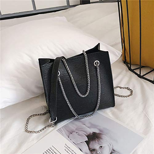 Simple For Wild Color Daily Solid Borse Bag Black Shoulder Chain Personality Totes Lady Vehom Temperament Donna Bk Messenger 7XYw44