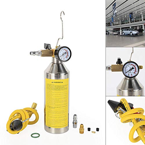 TFCFL Auto A/C Flush Gun Canister Clean Tool Kit Hose for R134a R12 R22  R410a R404a