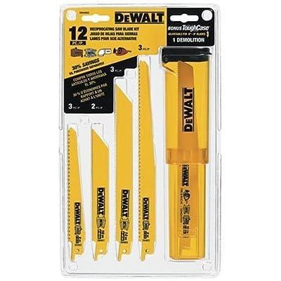 Dewalt DW4892 12 Piece Bi-Metal Reciprocating Saw Blade Set with Telescoping Cas, from Dewalt