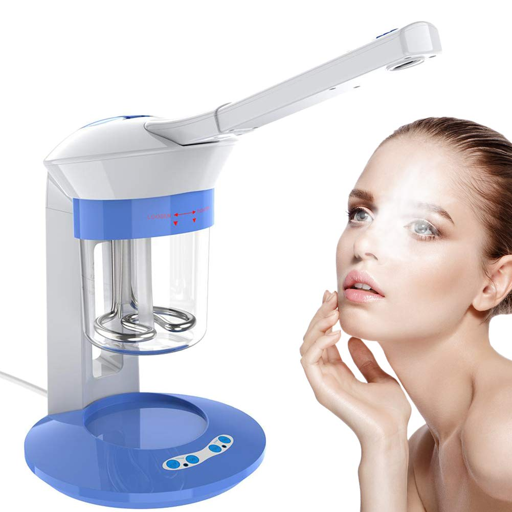 Filfeel Multifunction Nano Ionic Facial Steamer with Hot Steam Spray & Ion Vapour Ozone Steamers Functions 360°Rotation Face Care Portable Home Use Aromatherapy Humidifier