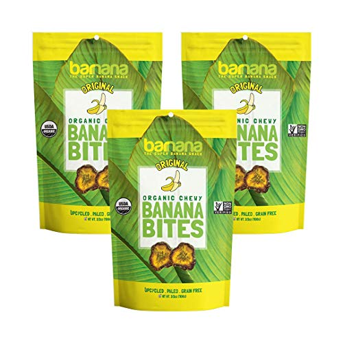 - Barnana Organic Chewy Banana Bites - Original - 3.5 Ounce, 3 Pack Bites - Delicious Barnana Potassium Rich Banana Snacks - Lunch Dinner Sports Hiking Natural Snack - Whole 30, Paleo, Vegan