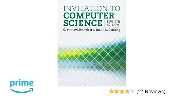 Invitation To Computer Science Loose Leaf Version 9781337685948
