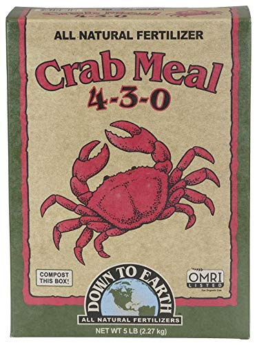 Down to Earth Organic Crab Meal Fertilizer Mix 4-3-0, 5 lb