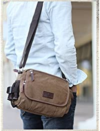Navor Men's Small Vintage Multipurpose Canvas Shoulder Bag Messenger Bag Purse