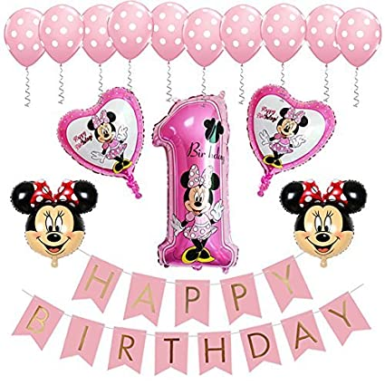 Amazon BE Happy Minnie Mouse 1st Birthday Party Supplies