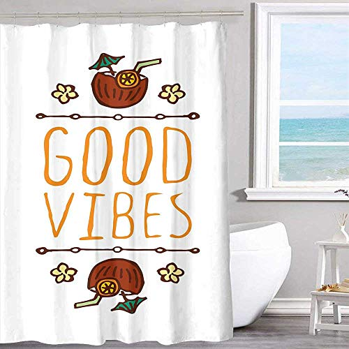 MKOK Pattern Printed Shower Curtain 72