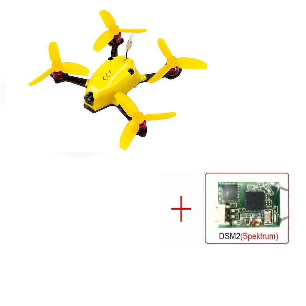 Hobbyhere Kingkong 110GT 117mm FPV Racing Drone with F3 4in1 10A Blheli_S 25mW 16CH 800TVL BNF 110GT (DSM2 RX)