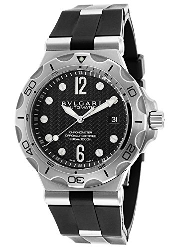 Bulgari-Mens-Automatic-Black-Rubber-Black-Dial