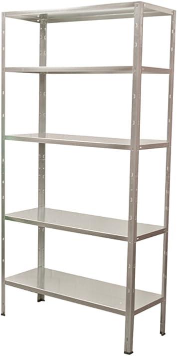 Ironside 140020 - Estantería metálica (200 x 100 x 40 cm, 5 baldas)