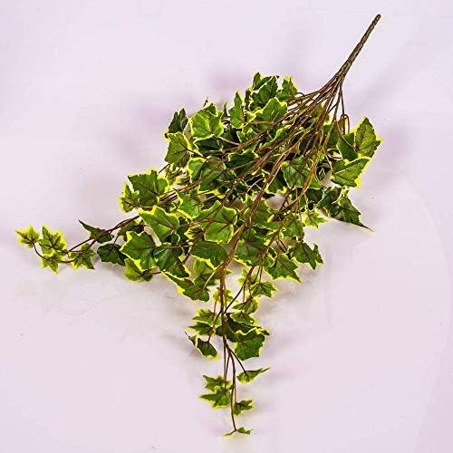 artplants.de Mata de Hiedra Decorativa con 330 Hojas, Verde-Blanco ...