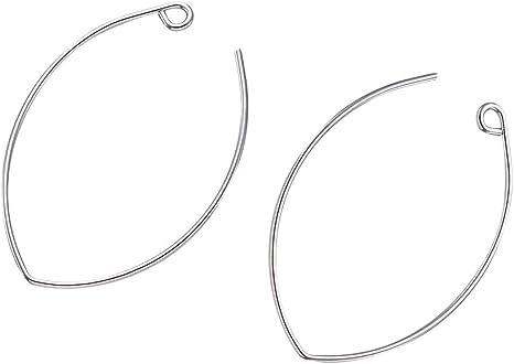 60pcs Charms Beading Hoop Loop Earring Ear Wire Jewelry Making Findings DIY