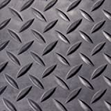 Diamond Plate Rubber Flooring Rolls, 3mm x 4ft Wide Rolls