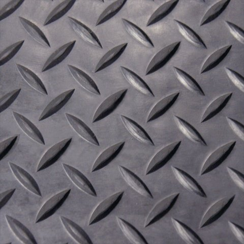rubbercal diamond plate rubber flooring rolls 18inch x 4 x 8feet black - Linoleum Flooring Rolls