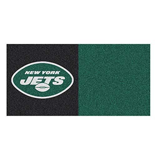 (FANMATS NFL New York Jets Nylon Face Team Carpet Tiles)