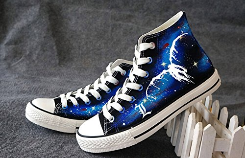 Death Note Ryuuku Cosplay Shoes Canvas Shoes Sneakers Luminous Blue A xiqzAvimFD