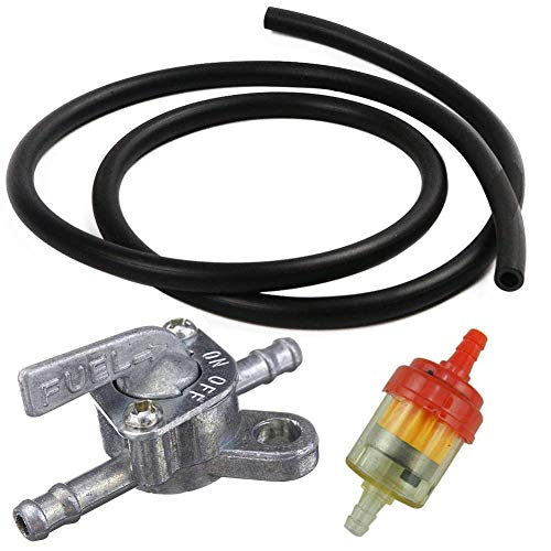 ZXTDR Gas Petrol Fuel Filter & Inline Fuel Valve Petcock & Petrol Pipe Line for ATV Dirt Bikes Go Karts