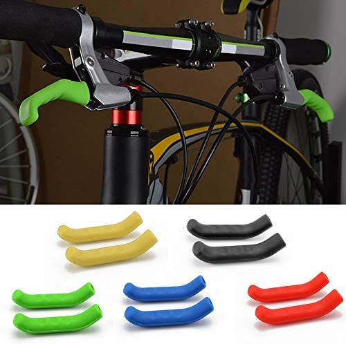 Wenjie Silicone Gel Universal Type Brake Handle Bar Grip Tool Lever Protection Cover Protector Case Shell for Mountain Road Bike Black