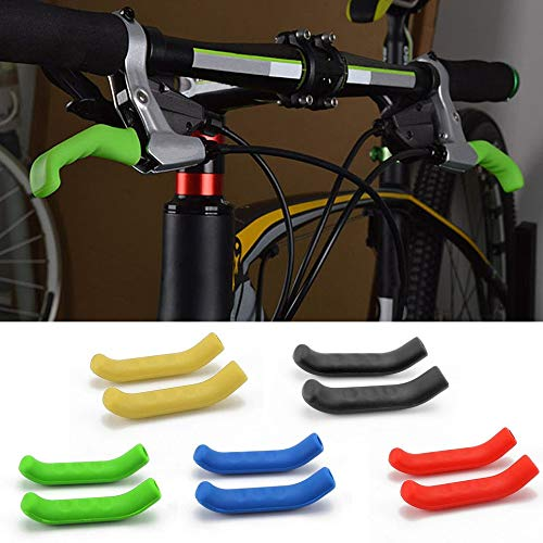 Blue Wenjie Silicone Gel Universal Type Brake Handle Bar Grip Tool Lever Protection Cover Protector Case Shell for Mountain Road Bike