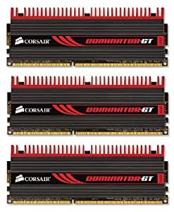 Corsair Dominator GT 6GB (3x2GB) DDR3 1866 MHz (PC3 15000) Desktop Memory (CMT6GX3M3A1866C9)