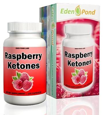 Eden Pond Ketones 250mg Highest Quality Capsules, Raspberry, 120 Count