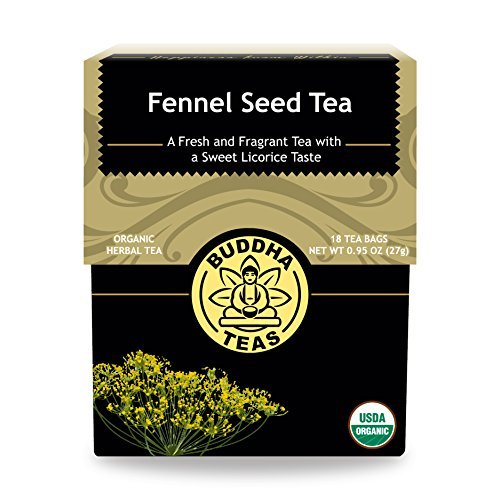 (Organic Fennel Seed Tea - Kosher, Caffeine-Free, GMO-Free - 18 Bleach-Free Tea Bags)