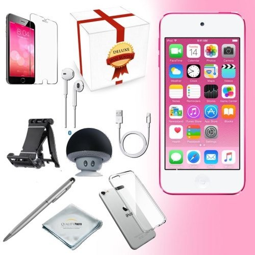 Apple iPod Touch 6th generation 32GB - PINK + All-in-1 iTouch Accessories Kit Bundle