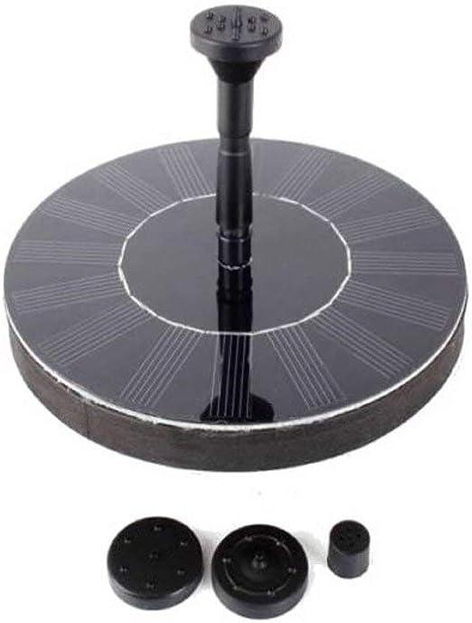 LARS360 Fuente Solar Bomba, Fuente de Jardín Solar, 1.4W Bomba De Agua Solar Fuente para Jardín y Birdbath y Estanque, Pájaros, Patio Jardín Decoración, con 4 Rociador Diferente: Amazon.es: Jardín