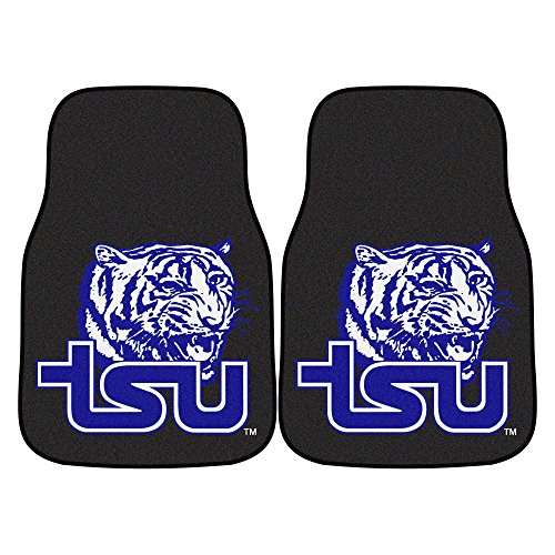 CC Sports Decor NCAA Tennessee State University Tigers 2-PC Set of Front Carpet Car Mats, Universal (University Tigers Floor)