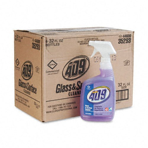 Clorox : Formula 409 Glass & Surface Cleaner, 32oz Trigger Spray Bottles, 9/carton -:- Sold as 2 Packs of - 9 - / - Total of 18 Each