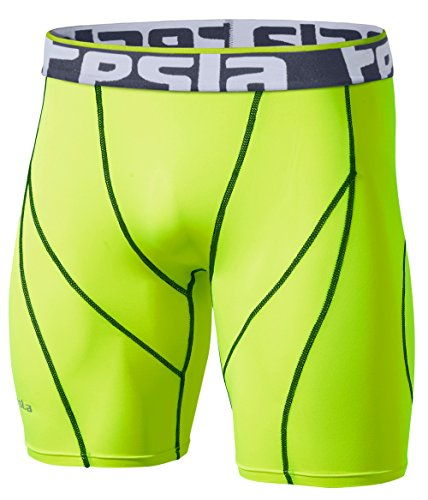 TM-S17-CTGZ_X-Large Tesla Men's Compression Shorts Baselayer Cool Dry Sports Tights S17