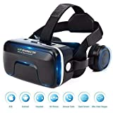 XGVRYG VR Headset, 3D Virtual Reality Glasses,103° FOV, Eye Protected HD Virtual Reality Headset w/Touch Button for 4.7-6.0in Smartphone