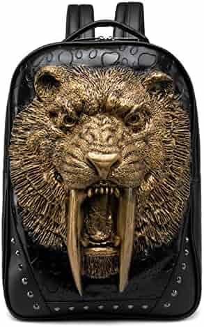 67a46a797699 Pattistore Punk Style 3D Animal Tiger Backpack School Bag Daypack Laptop Bag  Big Backpacks For Teen