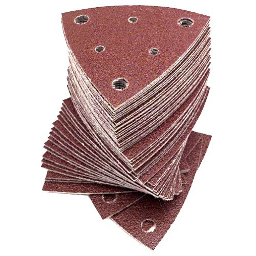 (Fein 6-37-17-112-01-7 Triangular Hook & Loop Sanding Sheets w/Dust Extraction Holes 120 Grit 50 per Package (63717112017))
