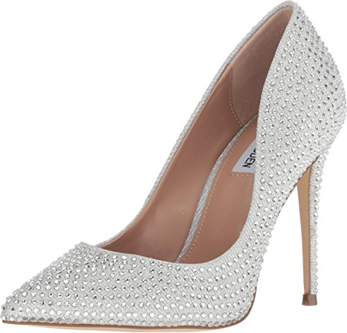 Steve Madden Womens Daisie Pointed Toe Classic Pumps, Crystal, Size - Crystal Madden Steve