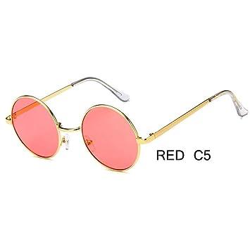 ZRTYJ Gafas de Sol Retro Gafas De Sol Redondas Mujeres ...