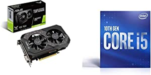 Asus TUF Gaming GeForce GTX 1660 Super Overclocked 6GB Edition HDMI DP DVI Gaming Graphics Card with Intel Core i5-10400 Desktop Processor 6 Cores up to 4.3 GHz LGA1200