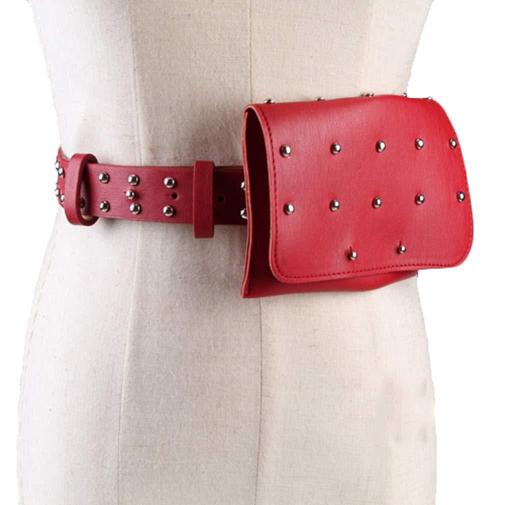 d7b2a99b48 Yying Cuir amovible ceinture sac 2 en 1 femmes ceinture avec mini pochette  téléphone portable Voyage