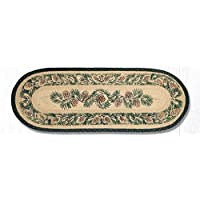 Earth Rugs 68-025A Pinecone Oval Runner