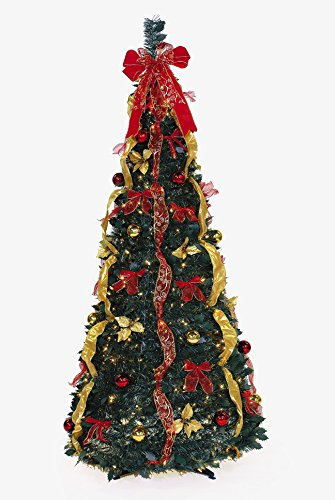 Ben & Jonah Let It Snow Collection 6' 350Lt Pop-Up Red/Gold Tree Green