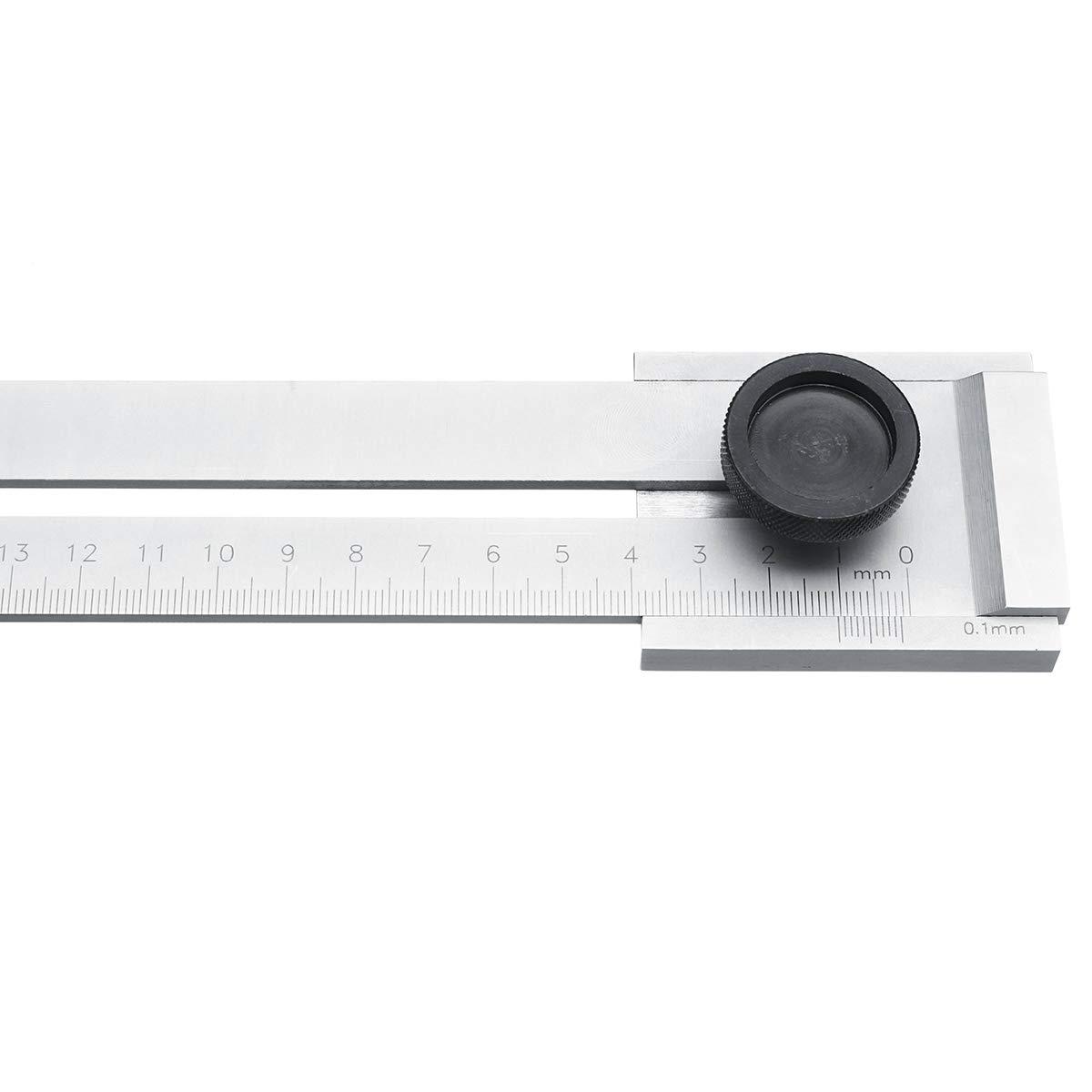 250MM 1 argent/é Fireangels 0-200/mm//0-250/mm /à vis de coupe Trusquin Mark Outil de grattage pour la mesure du travail du bois en acier carbone Graduation 0,1/mm Outil de Situer