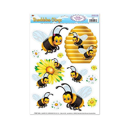 (Bargain World Bumblebee Window Clings (with Sticky)