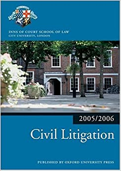 Book Bar Manual: Civil Litigation 2005/6 (Blackstone Bar Manual)
